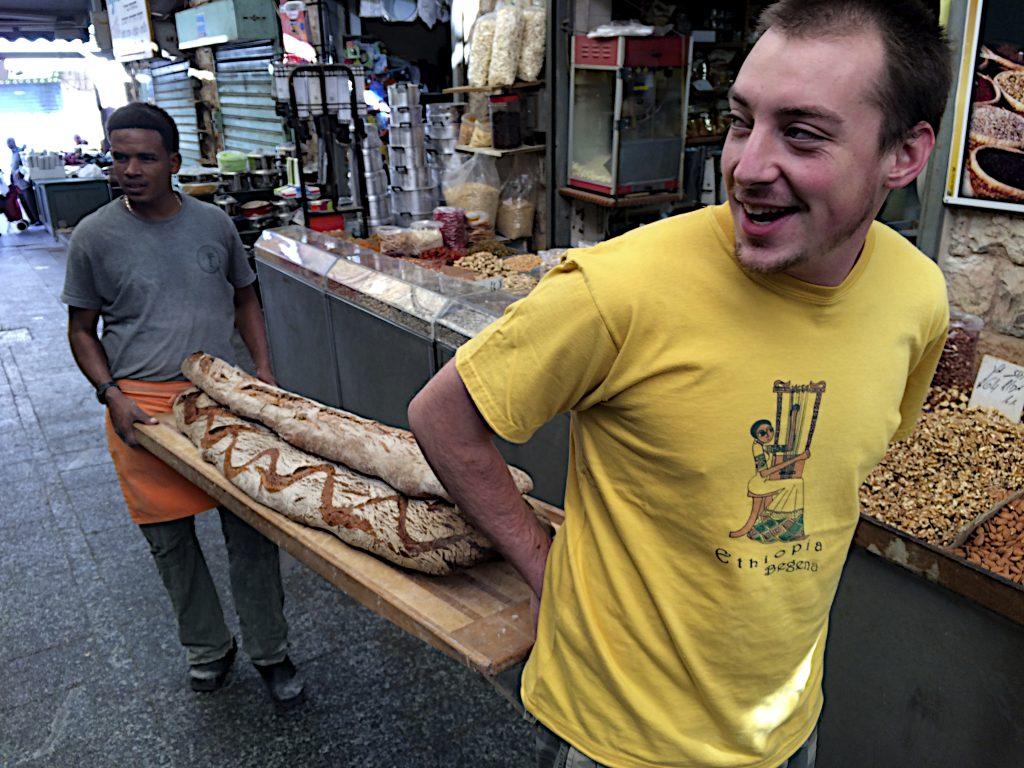 bread delivery, Machne Yahuda market, Jerusalem