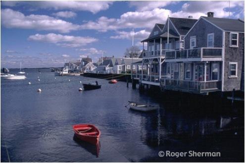 Red Skiff in Nantucket