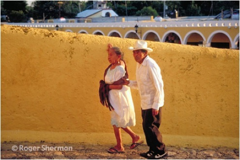 A Couple in Itzamal, Mexico