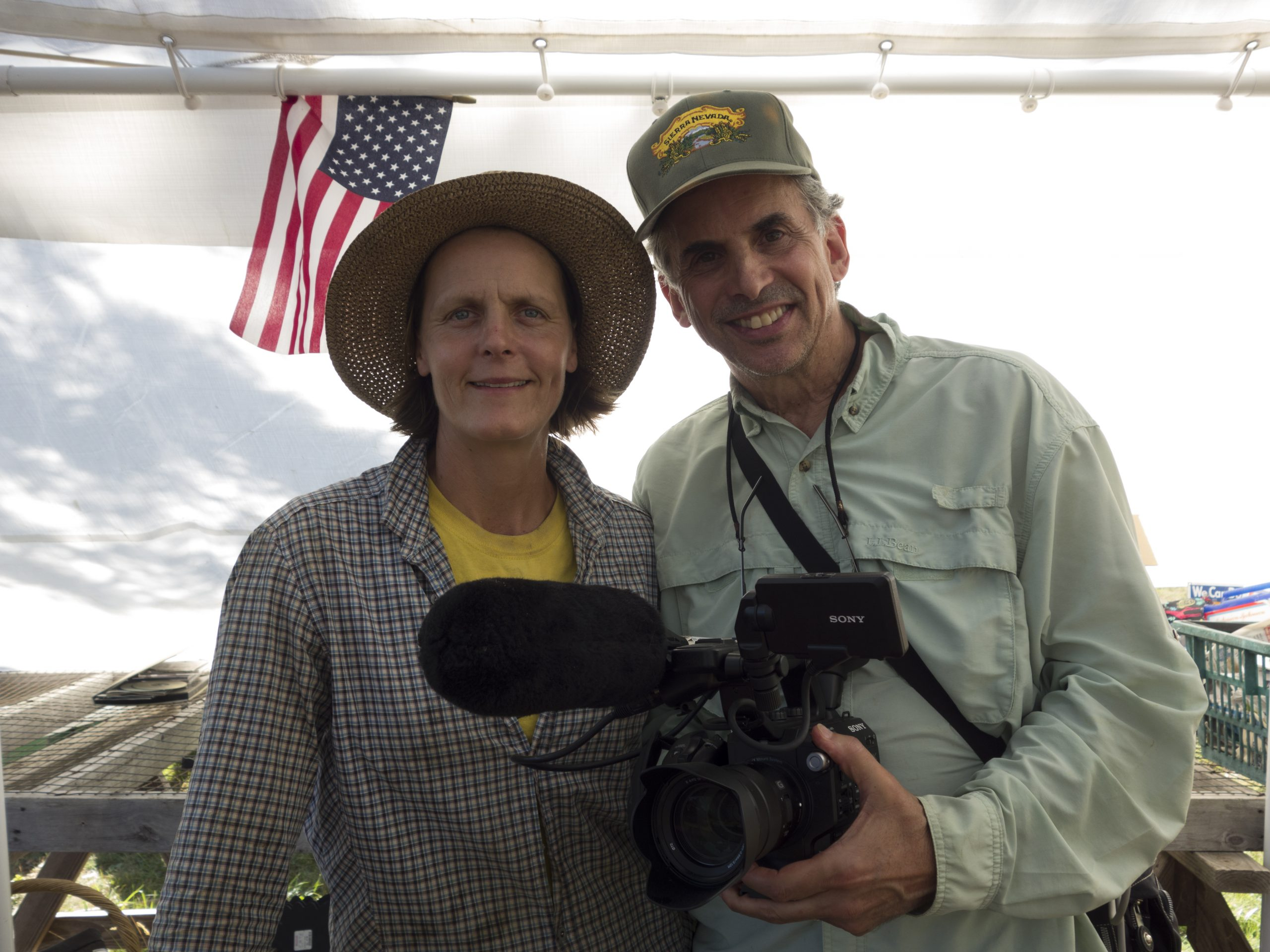 director Roger Sherman and farmer, star Patty Gentry