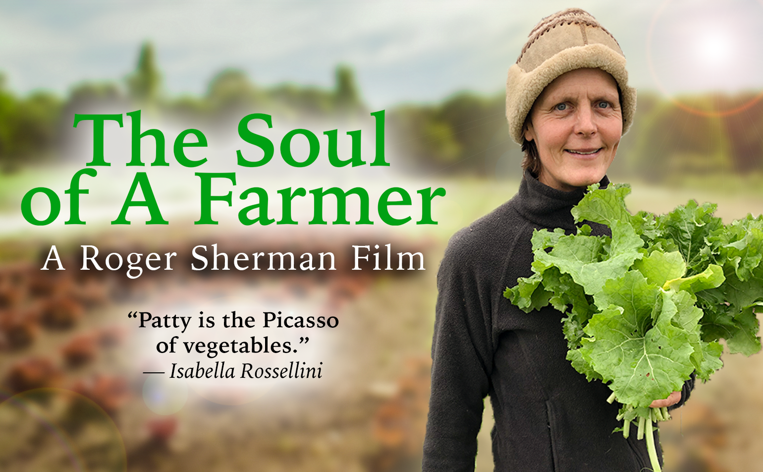 Website poster of Patty Genter, star of The Soul of A Farmer